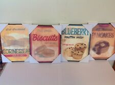 Target- kitchen baked goods breakfast wall art signs 8x10 hanging  -set of 4-NEW