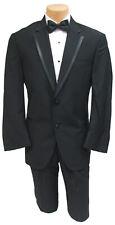 Men's Black Calvin Klein Rome Tuxedo Jacket 100% Wool Grosgrain Satin Trim 56R