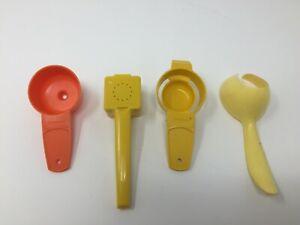 Tupperware Gadgets Mixed Lot of 4 - #1465 #877 #779 #1334 Harvest Color Lot