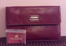 ETIENNE AIGNER Burgundy Leather True Vintage Envelope Clutch Purse/Bag w/Mirror