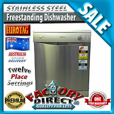NewHeavy Duty Freestanding Dishwasher Stainless Steel 12 Place Settings Rrp:$795