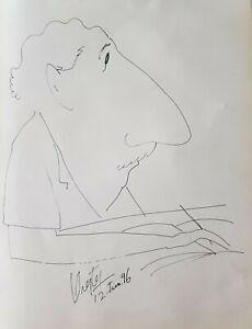 Drawing by:Orestes Gonzalez Hernandez,1996,original signed.