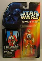 1995 Kenner Star Wars Luke X-Wing Pilot Long Saber POTF 2 Red Card Sealed Figure