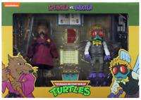 """Teenage Mutant Ninja Turtles (1987) Splinter vs Baxter 7"""" Action Figure 2-Pack"""