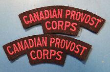 vintage Canada CANADIAN Armed Forces PROVOST CORPS shoulder badges flashes
