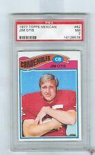 1977 Topps Mexican  # 62  JIM OTIS  Cardinals  Ohio State  PSA 7