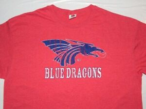 Vintage Hutchinson Ks Community College Blue Dragons shirt XL Fruit of the Loom