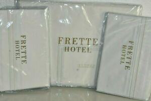 NEW Frette HOTEL COLORATO C BOURDON 3 PC SET Duvet Shams Cream Embroidered KING