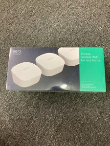 Amazon Eero Mesh WiFi Network System Router - 3-Pack Whole Home Coverage New