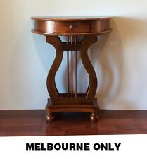 Antique English French Style Hall Console Sofa Table Stand Half Round 64cm Wide