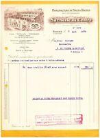 """NEVERS (58) USINE de SACS & BACHES """"A. LERICHE / SACHERIE DU CENTRE Succ."""" 1935"""
