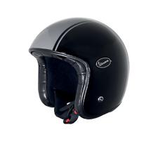 Vespa V-Fiber Open Face Jet Motorcycle Black Grey Crash Helmet New
