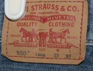 Levis   550  Blue   Denim     jeans   Youth   14 reg   29 x 28