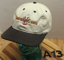 63ca0719ced COUNTRY PASTA POLSON MONTANA HAT TAN BLACK EMBROIDERED ADJUSTABLE VGC A13