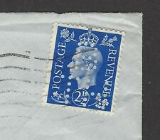 GB KGVI 2 1/2d with BTH perfin on cover to USA