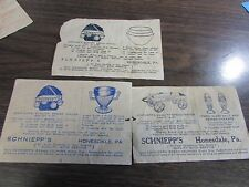 SCHNEIPP'S BREAD - HONESDALE - SCNEIPP'S BREAD COUPONS - 1930'S - LOT OF 3 DIFF
