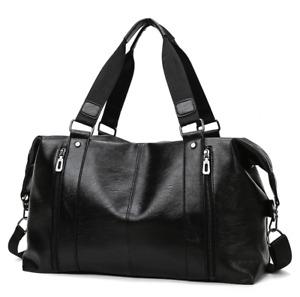 New Fashion Men Large Travel Leather Handbag Laptop Business Shoulder Bag DC