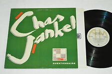 CHAS JANKEL Questionnaire LP 1981 A&M Canada Vinyl SP-4885 Electro Disco NM/VG+