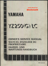 download yamaha yz250 yz 250 1986 86 service repair workshop manual
