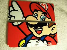 Nintendo Used New 3DS Faceplate Mario Red Front & Back Cover Plates Repair part