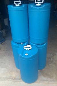 15 Gallons Plastic Barrel Blue Hdpe #2