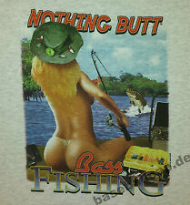 T-Shirt #245 , NOTHING BUTT, Pin Up Hot Rod Rockabilly Flyfishing Fischer-Shirt
