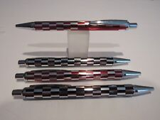 Brand New Pens 2 Red /& 2 Black Snappy Ballpoint Pocket Pen