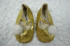 SEED HERITAGE BABY gold glitter mary jane shoes size 12-18 months NWOT