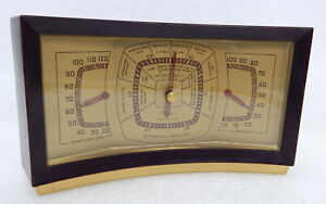Mid Century Taylor Instruments Desktop Barometer Stormoguide Weather Station