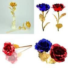 14 X Folie Rose Romantische vergoldet Valentinstag Geburtstag Geschenk Neu
