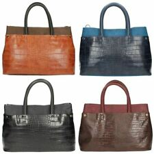 Clarks Croc Print Synthetic Outer Handbags