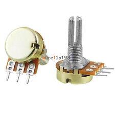 2PCS 50K Ohm Linear 3 Terminal Taper Rotary Potentiometer Panel Pot B50K