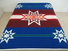 "Gently Used Vintage Pendleton Beaver State Sioux Star Wool Blanket; 76"" x 65"""