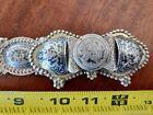 19th Century Ottoman Silver Niello Belt Buckle Tughra Abdul Hamid II BIN OBO FS
