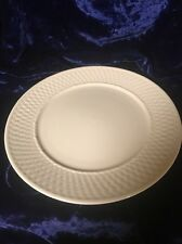 Oneida Stoneware China White Wicker Design Serving Platter