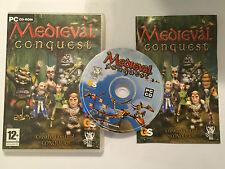PC WINDOWS CD-ROM GIOCO Medievale conquista O/S WIN 98 XP ME 2000 >