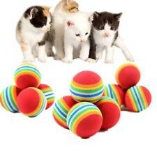 Rainbow Ball Cat Toy Colorful Ball Interactive Pet Kitten Scratch Natural Foam