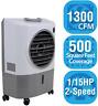 Portable Evaporative Swamp Cooler 1300 CFM Outdoor 2 Speed Air Flow Ventilation