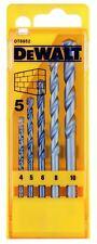 DeWalt DIY Plus Masonry Drill Bit Set X 5 In Case