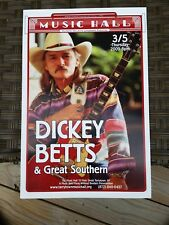 Dickey Betts Official Poster 3/5/09 Music Hall Tarrytown, Allman Brothers Duane