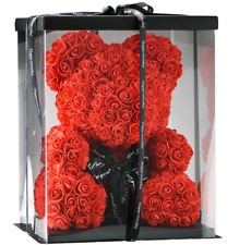 More details for luxury rose teddy bear 25cm & 40cm valentines day beautiful gift box available
