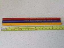 "3 Very Rare Vintage Janome ""DELUXE"" HB 5500 Hexagonal Wooden Pencils - FOREIGN"