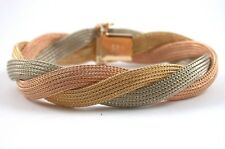 feinste Juwelierware -  Designer Strickmuster - Armband Gold 750   70er Jahren