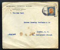 MEXICO to GREAT BRITAIN air cover 1932 CHIHUAHUA cancel
