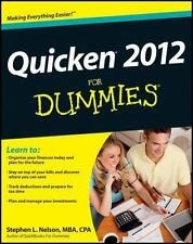 Quicken 2012 For Dummies - Good - Nelson, Stephen L. - Paperback