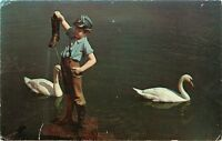 Hershey Pennsylvania Chocolate Town USA Boy With Leaking Boot Pa Postcard