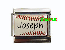Any Name on baseball Custom Italian Charm with seams, realy cool and unique!