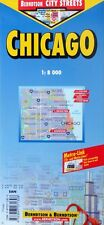 NEW~MAP of CHICAGO,Illinois~Borch~Indexed, Details-Downtown,Hyde Park & O'Hare