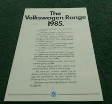 1985 VW RANGE BROCHURE Convertible GTi Polo Golf Jetta Passat Santana Scirocco