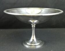 Vintage Jefferson Oneida Silverplate Pedestal Bowl with Beaded Edge Trim